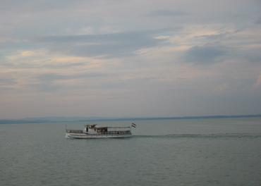 Koselig båttur mellom Balatonfüred og Siofok.